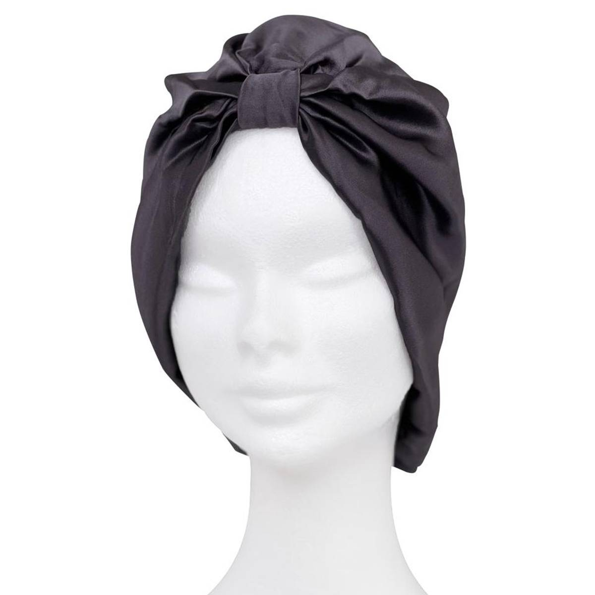 Sove turban i silke-koksgrå