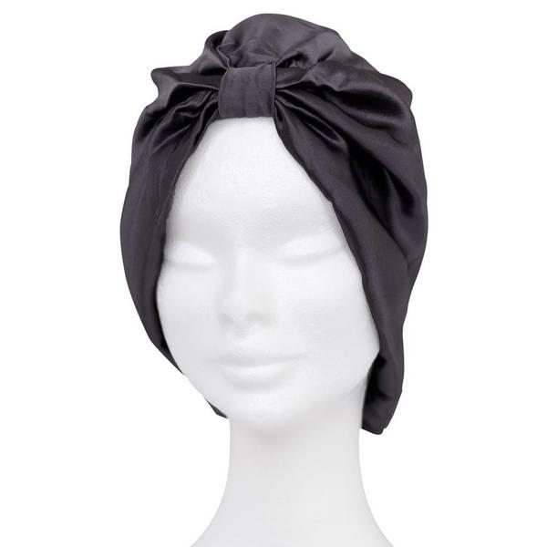 Bilde av Sove turban i silke-koksgrå