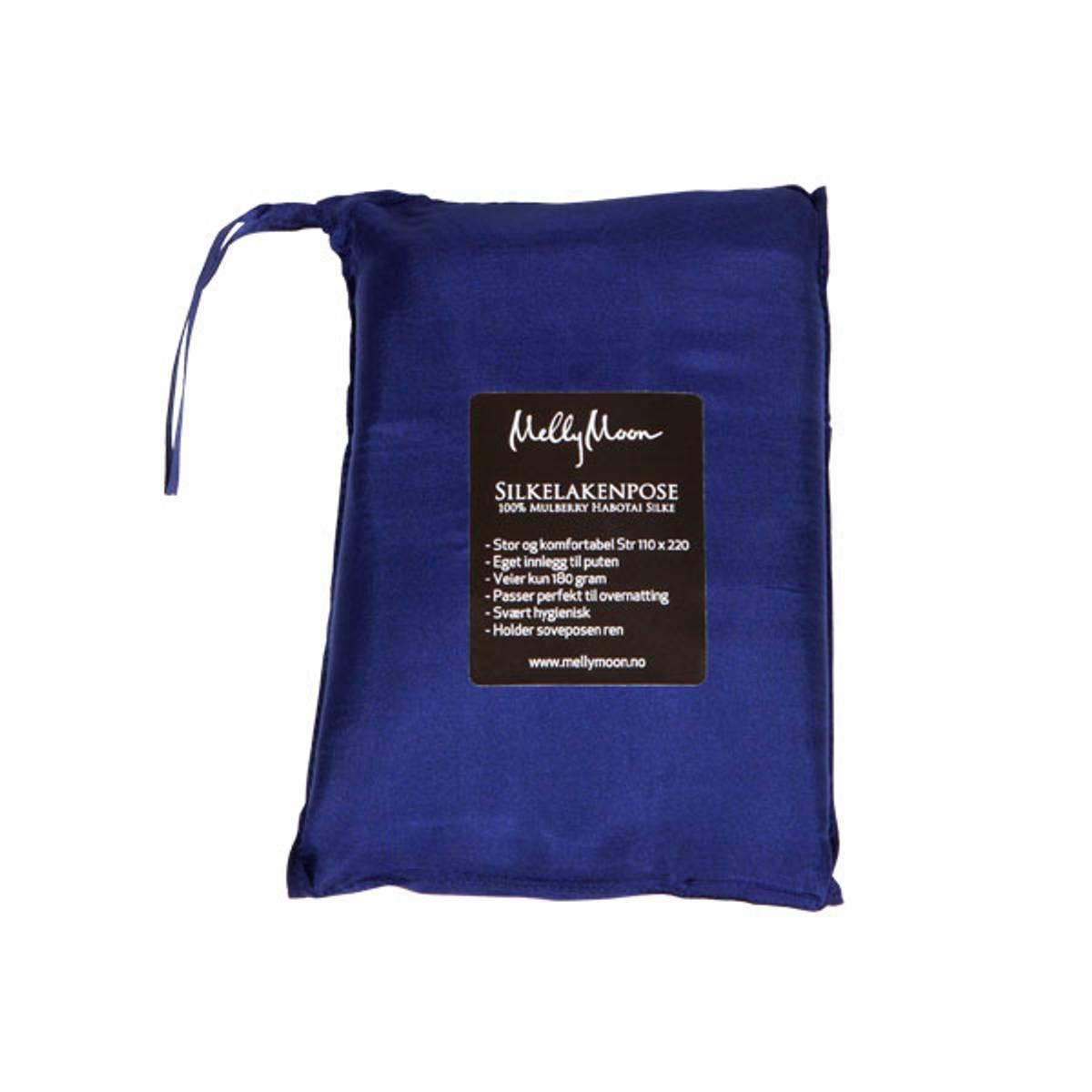 Silkelakenpose - mørkeblå